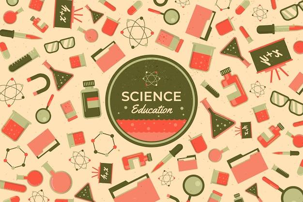Conception De Papier Peint éducation Scientifique Vintage Vecteur gratuit