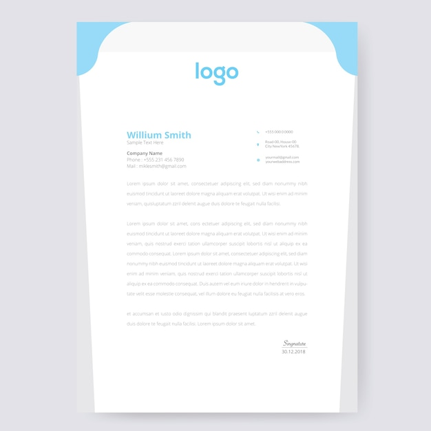 Conception de papier à en-tête de vague Vecteur Premium