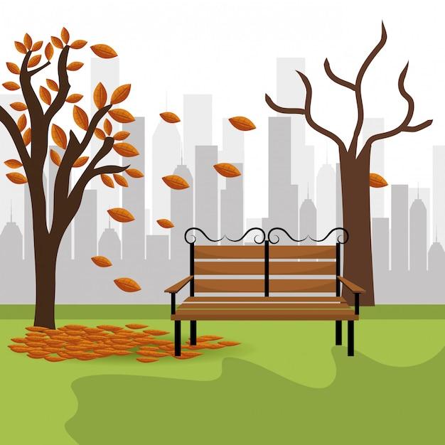 Conception de parc urbain. Vecteur Premium