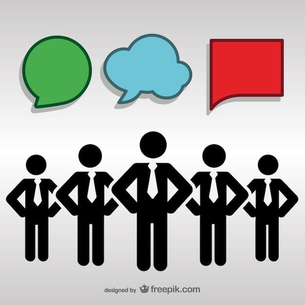 Conception Peuple Libre De La Communication Vecteur gratuit