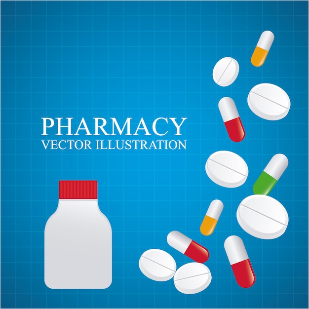 Conception De Pharmacie Vecteur gratuit