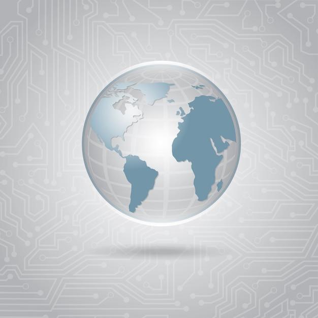 Conception de la planète Vecteur Premium