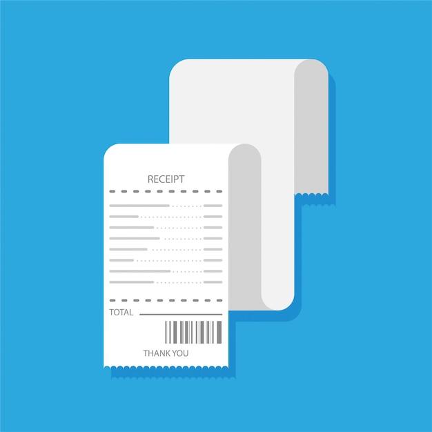 Conception Plate Du Reçu Vierge. Chèque Financier Papier Ou Modèle De Facture. Isolé Vecteur Premium