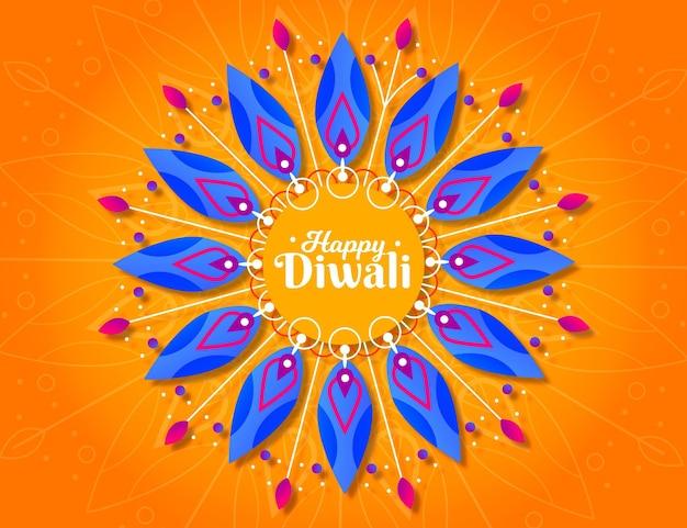 Conception Plate D'événement Spirituel De Diwali Vecteur gratuit