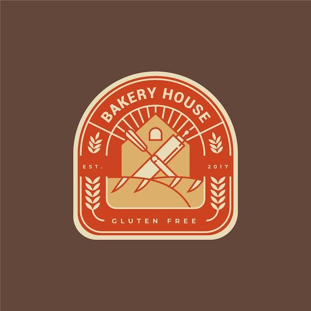 Conception Plate De Logo De Gâteau De Boulangerie Vecteur Premium