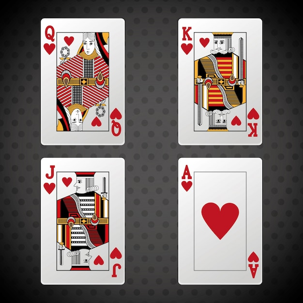 Conception de poker Vecteur Premium
