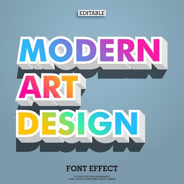 Conception de police art moderne dégradé coloré Vecteur Premium