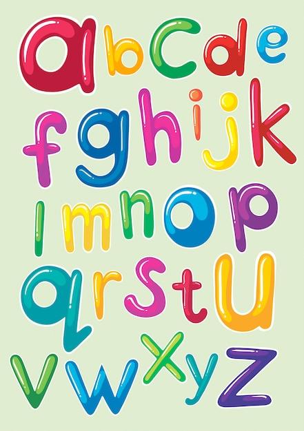 Conception de polices avec des alphabets anglais Vecteur gratuit