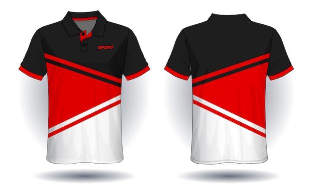 Conception De Polo T-shirt, Modèle De Maillot De Sport. Vecteur Premium