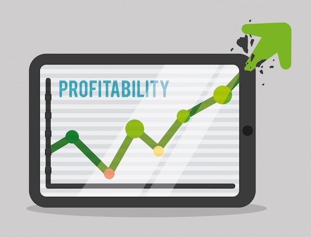 Conception de profit Vecteur Premium
