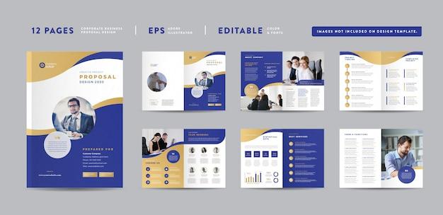 Conception De Proposition De Projet D'entreprise | Rapport Annuel Et Brochure D'entreprise | Conception Du Livret Et Du Catalogue Vecteur Premium