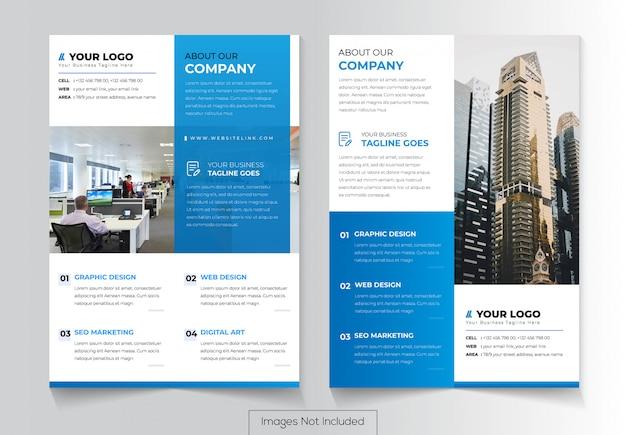 Conception de prospectus d'entreprise avec deux versions différentes Vecteur Premium