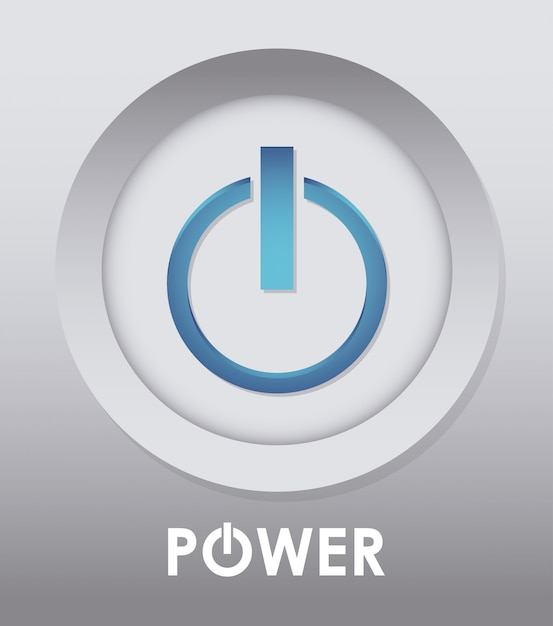 Conception de puissance. illuistration Vecteur Premium