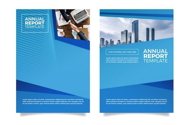 Conception De Rapport Annuel Minimaliste Moderne Vecteur gratuit