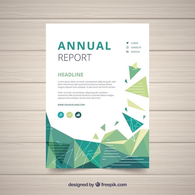 Conception de rapport annuel en style géométrique Vecteur gratuit