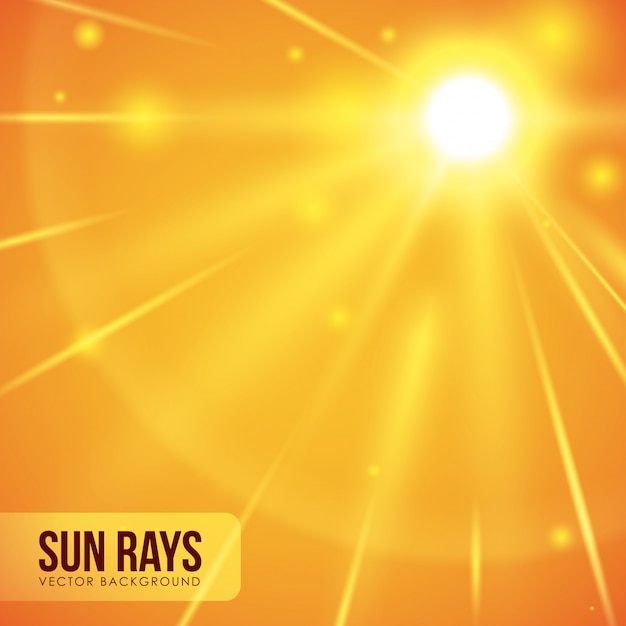Conception des rayons de soleil. Vecteur Premium