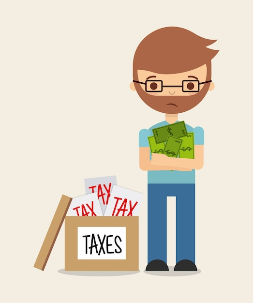 Conception de responsabilité fiscale, illustration vectorielle eps10 graphique Vecteur Premium