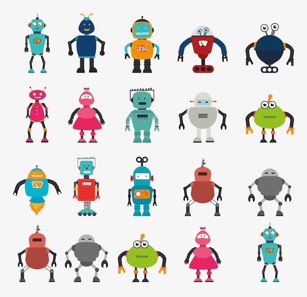 Conception de robot Vecteur Premium