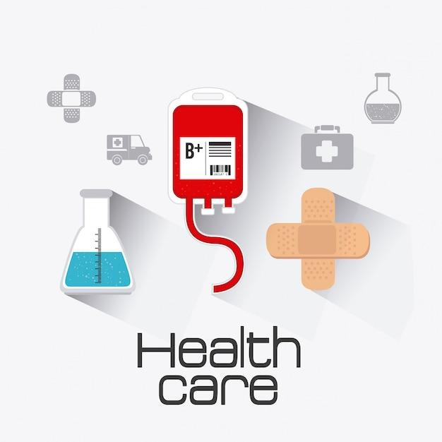 Conception de la santé médicale. Vecteur Premium