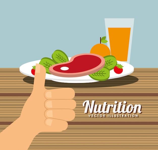 Conception de la santé de la nutrition Vecteur gratuit