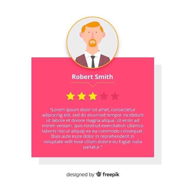 Conception de satisfaction client Vecteur gratuit