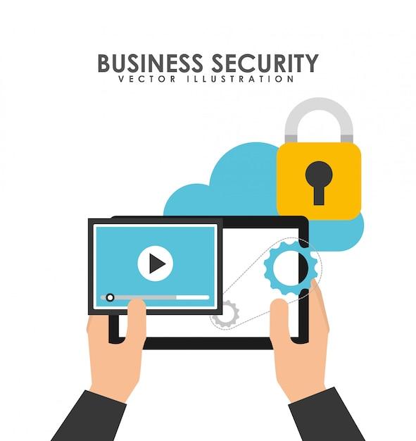 Conception de sécurité d'entreprise Vecteur gratuit