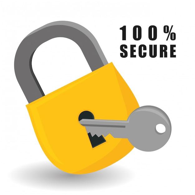Conception de la sécurité. Vecteur Premium