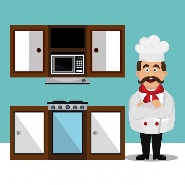 Conception de service de restauration Vecteur Premium