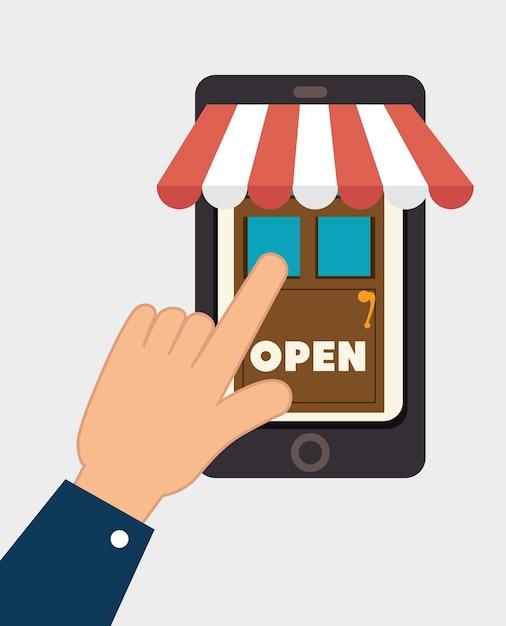 Conception de shopping. Vecteur Premium