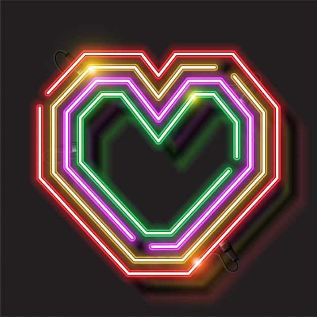Conception de signe d'amour Vecteur Premium