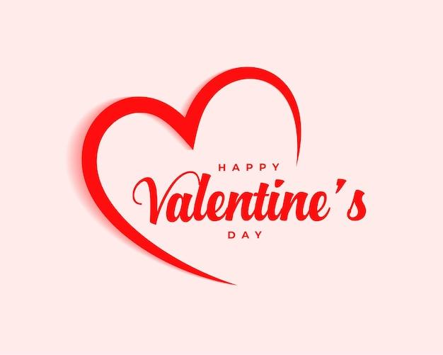 Conception Simple De Célébration De Joyeux Saint Valentin Vecteur gratuit