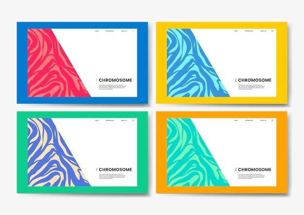 Conception de site web de science éducative des chromosomes Vecteur gratuit