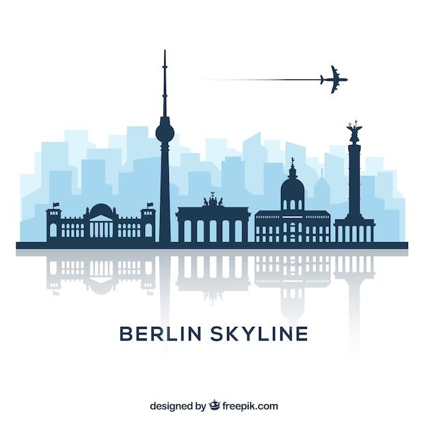 Conception de skyline de berlin Vecteur gratuit