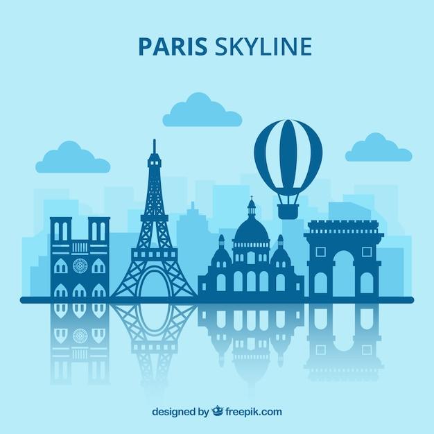 Conception De Skyline De Paris Vecteur gratuit