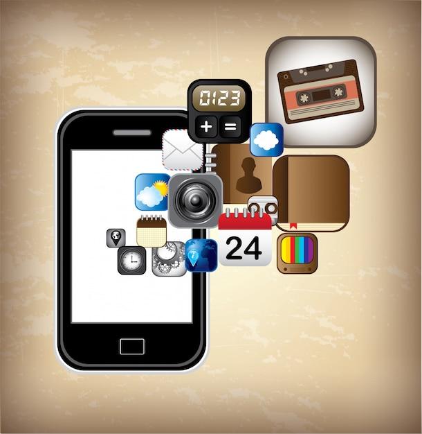 Conception de smartphone Vecteur Premium
