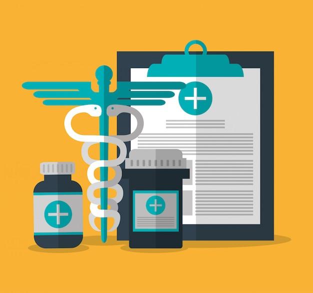 Conception de soins médicaux Vecteur Premium