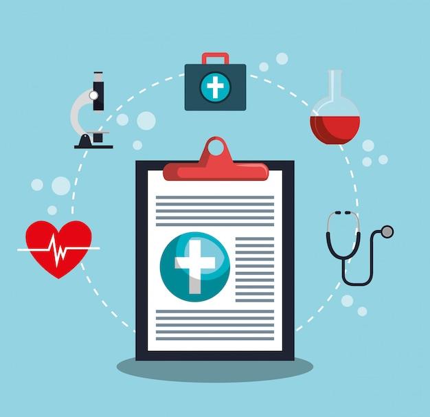 Conception de soins médicaux Vecteur gratuit