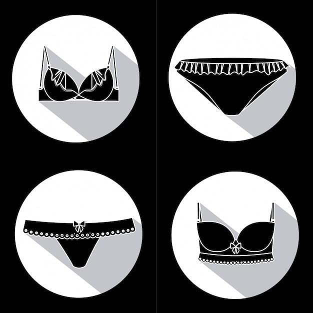 Conception de sous-vêtements Vecteur Premium