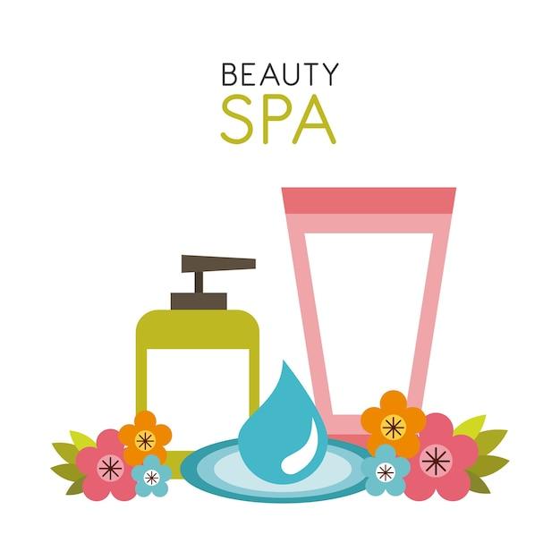 Conception de spa de beauté Vecteur Premium