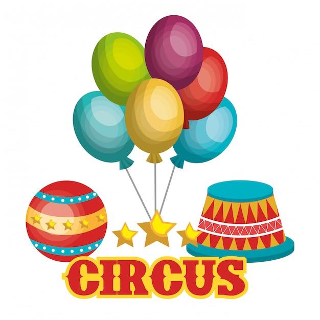 Conception de spectacle de cirque Vecteur Premium