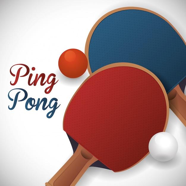 Conception de sport de ping-pong Vecteur Premium