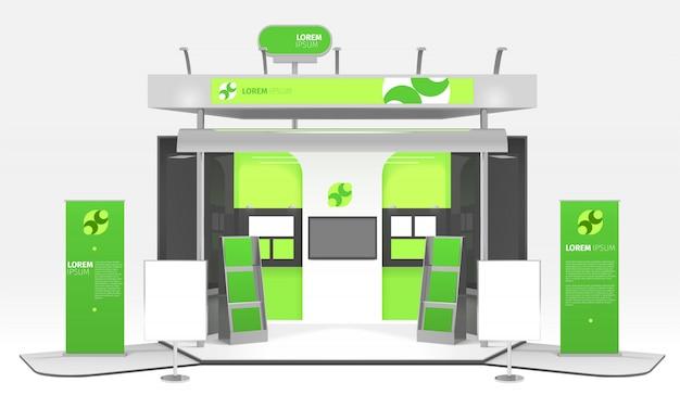 Conception De Stand D'exposition Sur L'énergie Verte Vecteur gratuit
