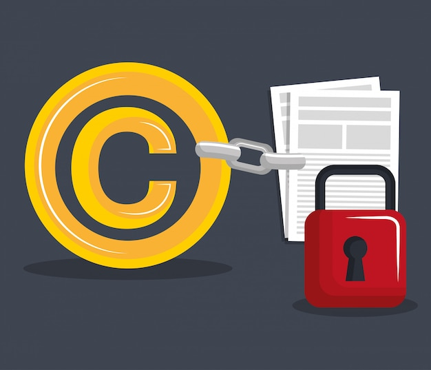Conception de symbole de copyright Vecteur Premium