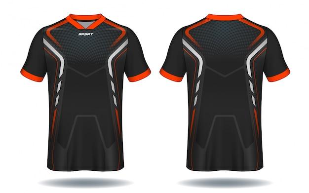 Conception de t-shirt de football. Vecteur Premium