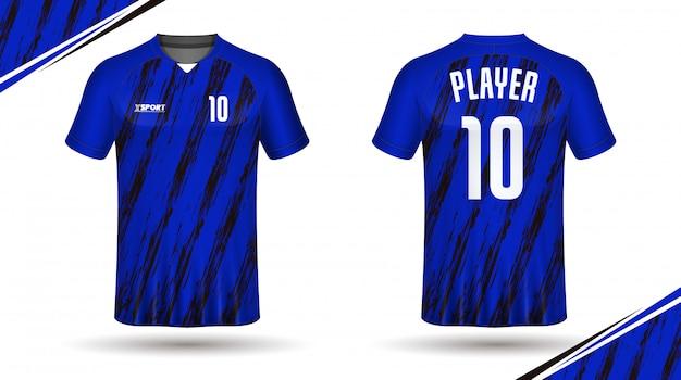 Conception de t-shirt jersey de football modèle-sport Vecteur Premium