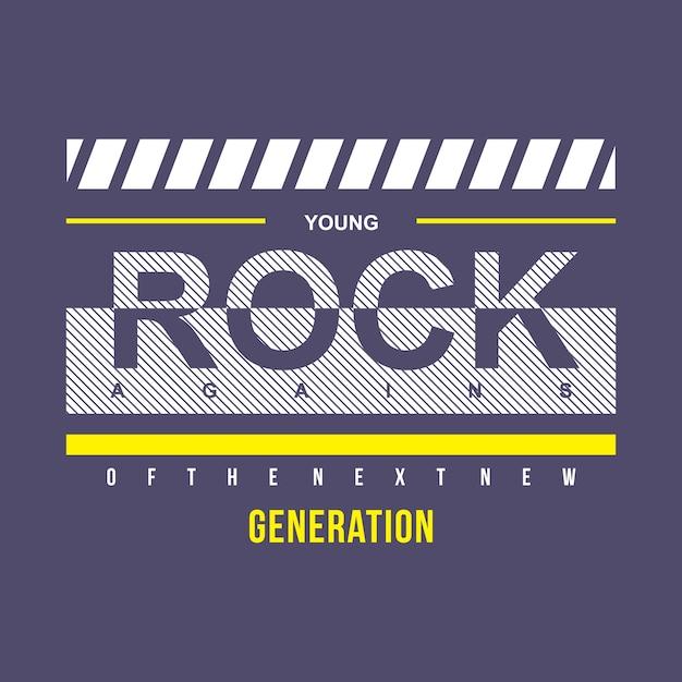Conception de t-shirt jeune typographie rock Vecteur Premium