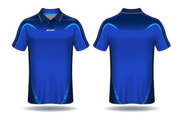Conception De T-shirt Polo, Modèle De Maillot De Sport. Vecteur Premium