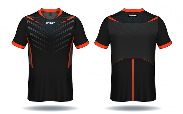 Conception De T-shirt De Sport En Jersey De Football. Vecteur Premium