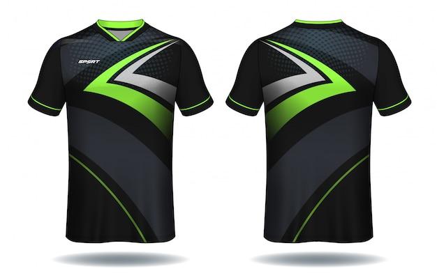 Conception De T-shirt De Sport En Jersey De Football. Vecteur Premium
