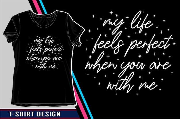 Conception De T-shirt Typographie Citation D'amour Vecteur Premium